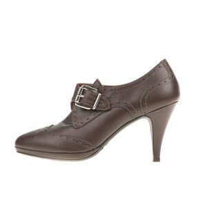 CHANIOTAKIS - Γυναικεία ψηλοτάκουνα παπούτσια CHANIOTAKIS καφέ