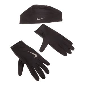 NIKE ACCESSORIES - Ανδρικό σετ σκούφος και γάντια NIKE RC.37.LX RUN DRY μαύρο  - Size: Large