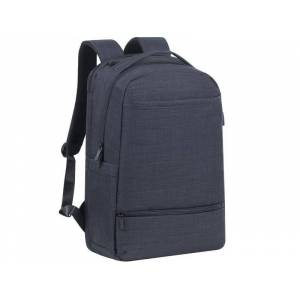 """RIVACASE Τσάντα Laptop RivaCase 8365 17,3"""" Biscayne black carry-on backpack"""