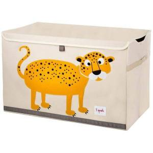3 Sprouts Καλάθι Για Παιχνίδια Με Καπάκι LEOPARD TOY CHEST ITCLEO