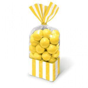 Amscan Σακούλες Ζελατίνας Ριγέ Κίτρινες 10τεμ. M37755409
