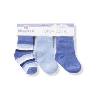 Kikka Boo Kikkaboo καλτσάκια 6-12months σετ/3 Stripes Dark Blue 31110010031