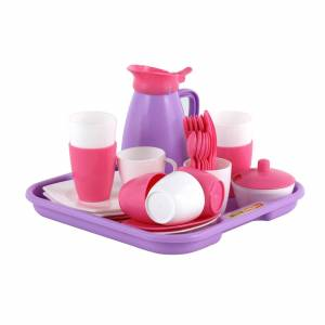 Polesie Toys Polesie παιχνίδια σετ κουζινικά 34τεμ για κορίτσια servise on a tray 40657 40657