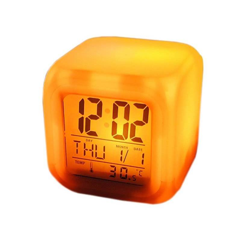 SPM Ρολόι - Ξυπνητήρι με Οθόνη LCD και Αλλαγή Χρώματος LED SPM 0149