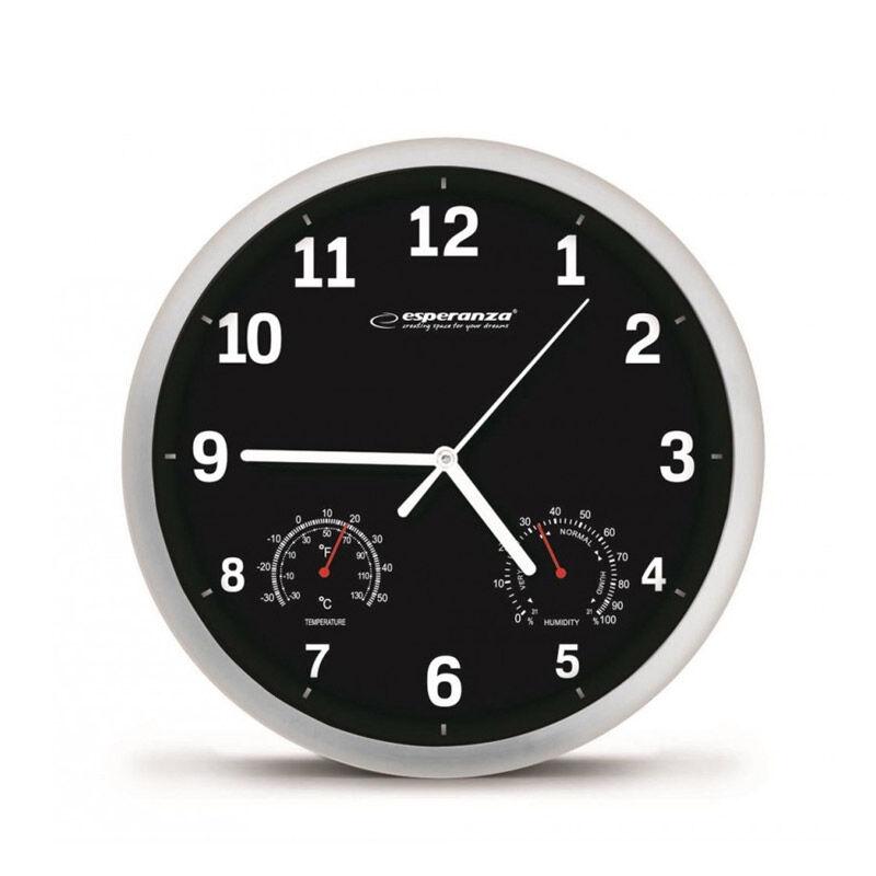 Esperanza Ρολόι Τοίχου Esperanza Χρώματος Μαύρο EHC016K