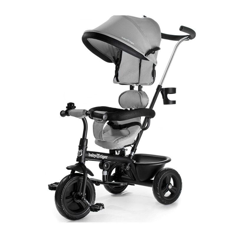 Baby Tiger Τρίκυκλο Παιδικό Ποδήλατο - Καρότσι Baby Tiger Fly Χρώματος Γκρι