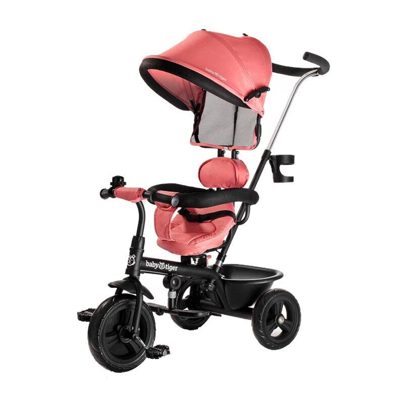 Baby Tiger Τρίκυκλο Παιδικό Ποδήλατο - Καρότσι Baby Tiger Fly Χρώματος Κοραλί