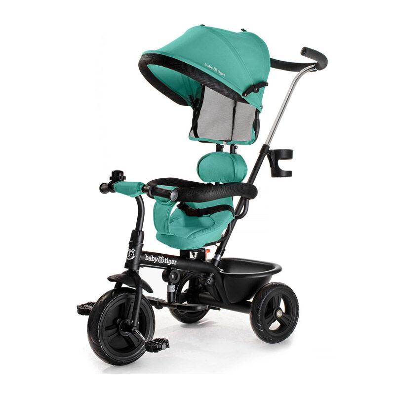 Baby Tiger Τρίκυκλο Παιδικό Ποδήλατο - Καρότσι Baby Tiger Fly Χρώματος Πράσινο