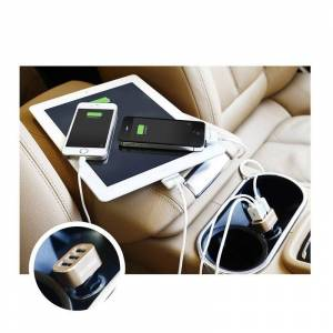 SPM Φορτιστής Αυτοκινήτου USB Υψηλής Ταχύτητας 3 Εισόδων 5.1-amp SPM CarCharger-WHT