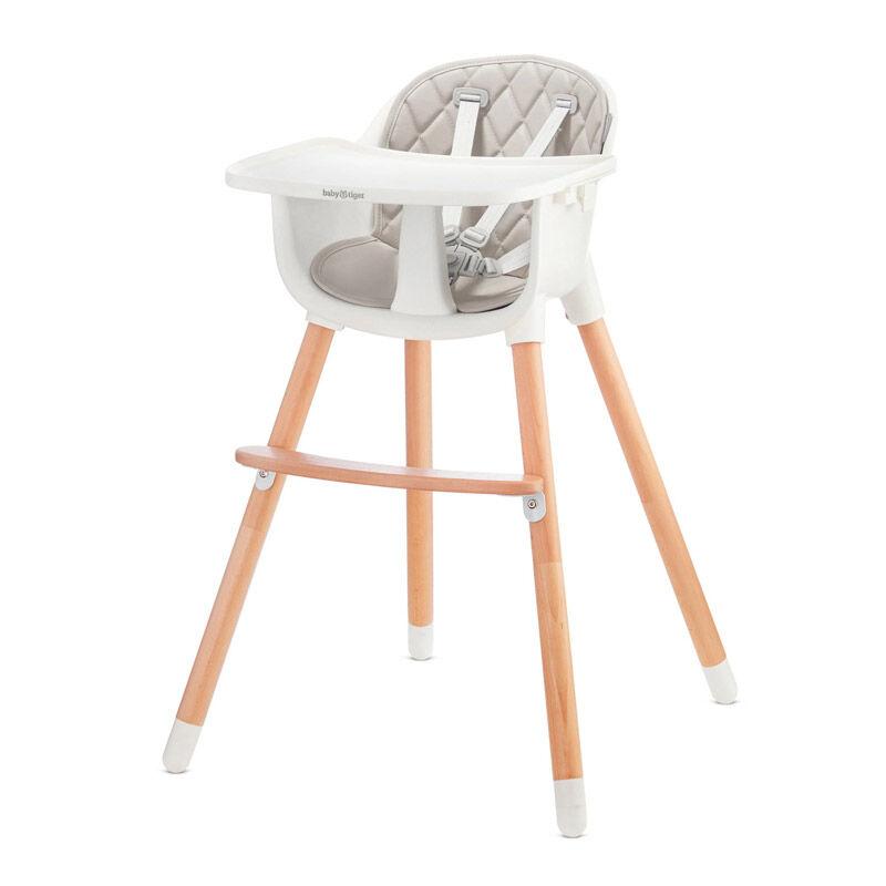 Baby Tiger Παιδικό Κάθισμα Φαγητού 2 σε 1 Χρώματος Γκρι Baby Tiger Tini