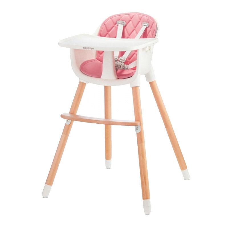Baby Tiger Παιδικό Κάθισμα Φαγητού 2 σε 1 Χρώματος Ροζ Baby Tiger Tini