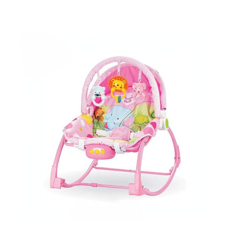 Hoppline Παιδικό Ρηλάξ - Κούνια 2 σε 1 Χρώματος Ροζ Hoppline HOP1001015-2