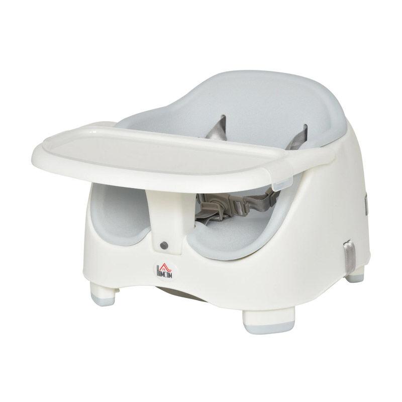 HOMCOM Παιδικό Κάθισμα Φαγητού για Καρέκλα Χρώματος Γκρι HOMCOM 420-011GY