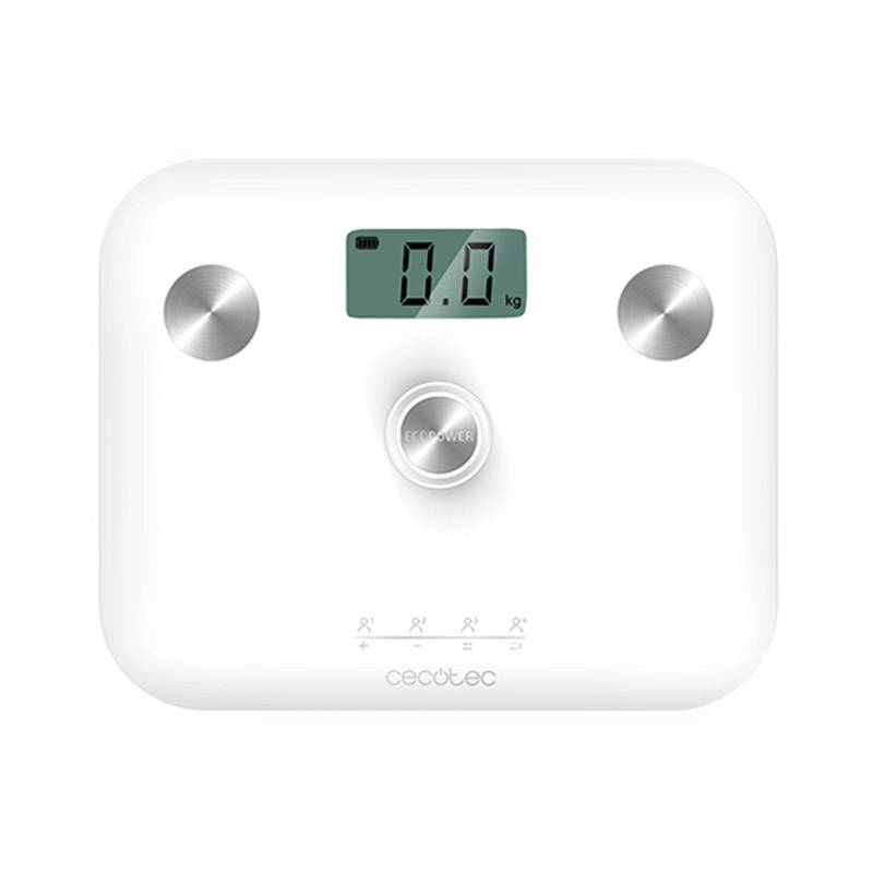 Cecotec Ψηφιακή Ζυγαριά Μπάνιου - Λιπομετρητής Cecotec Surface Precision EcoPower 10100 Full Healthy Χρώματος Λευκό CEC-04252