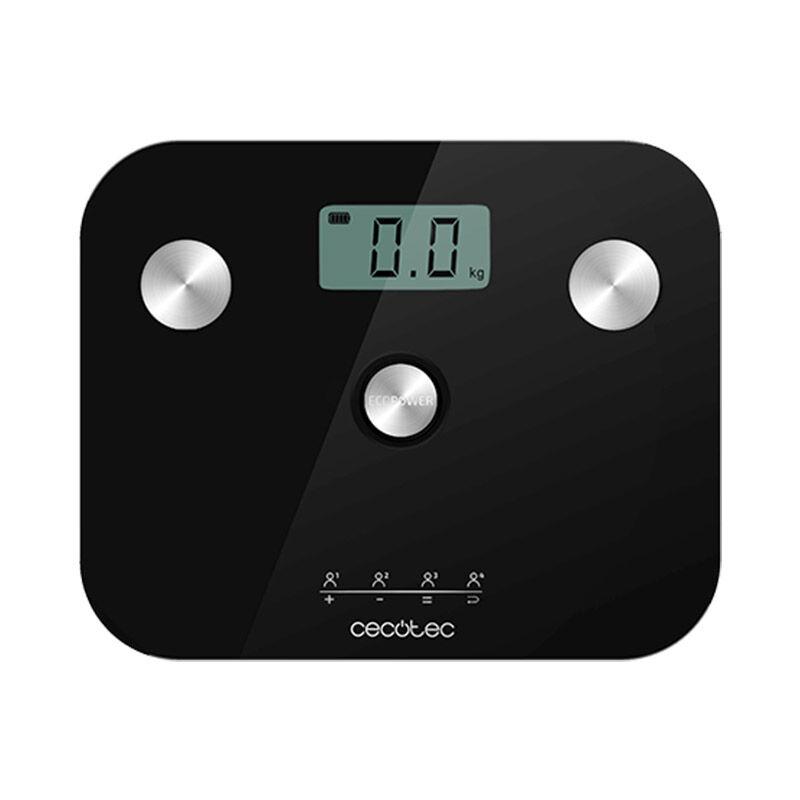 Cecotec Ψηφιακή Ζυγαριά Μπάνιου - Λιπομετρητής Cecotec Surface Precision EcoPower 10100 Full Healthy Χρώματος Μαύρο CEC-04253