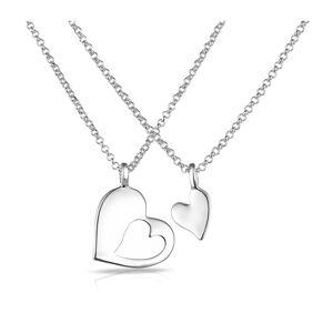 Philip Jones Σετ Κολιέ Philip Jones με Κρεμαστό σε Σχήμα Καρδιάς
