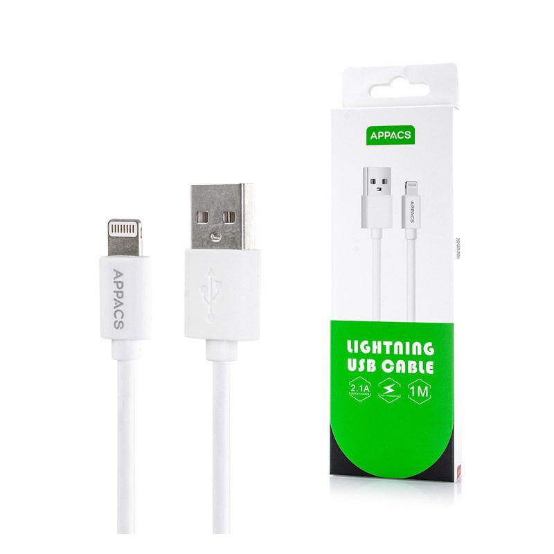 APPACS Καλώδιο USB to Lightning 1m APPACS U11-White