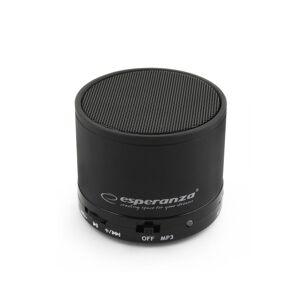 Esperanza Mini Φορητό Ηχείο Bluetooth Ritmo 3W RMS με MP3 Player και Υποδοχή MicroSD Χρώματος Μαύρο Esperanza EP115K