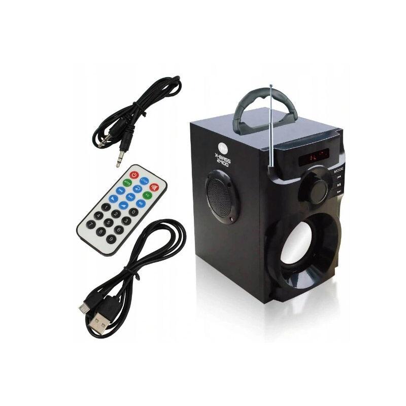 Bass Polska Φορητό Ηχείο Bluetooth με Ραδιόφωνο FM MP3 Subwoofer και Τηλεχειριστήριο 30 W X-BASS 2400 Bass Polska BP-5944