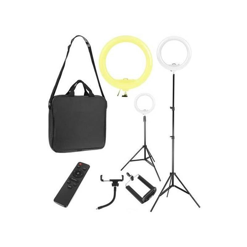 SPM Φωτογραφικό Φωτιστικό Δαχτυλίδι LED 32 cm με 3 Χρώματα Φωτισμού, Τρίποδο και Βάση Κάμερας SPM 9630