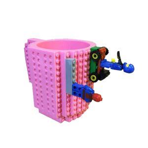 SPM Κούπα από Lego Χρώματος Ροζ SPM BrickMug-Pink