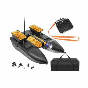 SPM Τηλεκατευθυνόμενο Σκάφος Catamaran για Ψάρεμα με 3 Δοχεία Δολώματος και Τηλεχειριστήριο SPM 9774