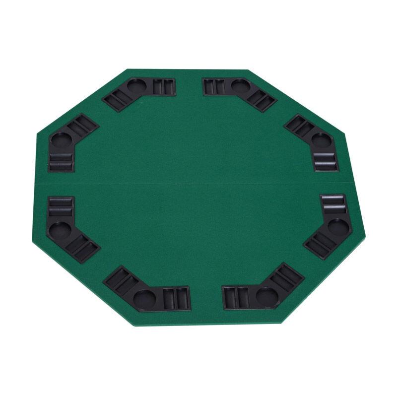 HOMCOM Πτυσσόμενη Επιφάνεια Τραπεζιού Πόκερ 1.2 m HOMCOM B8-0001