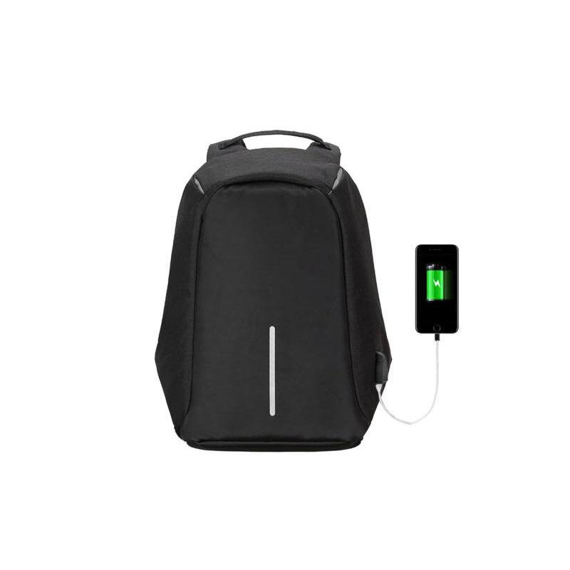 Hoppline Αντικλεπτικό Σακίδιο Πλάτης με Θύρα Φόρτισης USB Χρώματος Μαύρο Hoppline HOP1000827-1