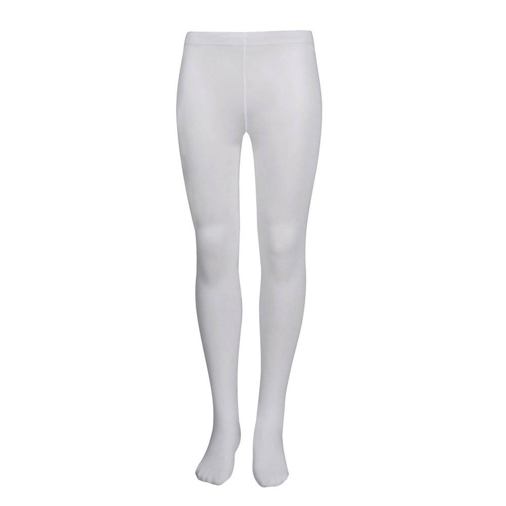 go dance girls micro fibre footed tight  - white