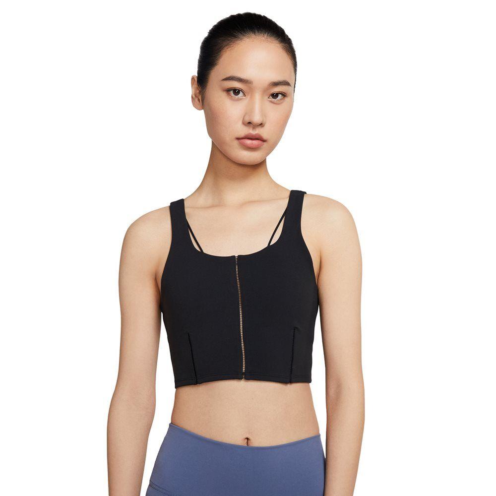 nike γυναικείο mπουστάκι yoga medium support  - black