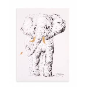 CHILDHOME Κάδρο Ελέφαντας Childhome Gold 30*40cm