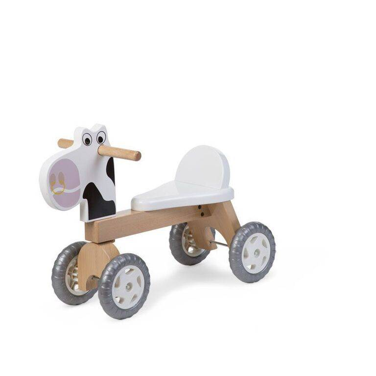 CHILDHOME Ξύλινο Ποδήλατο Childhome Cow Natural White