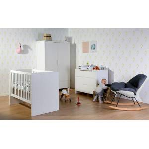 CHILDHOME Κρεβάτι 60*120 Childhome Με Τραβέρσες 90*200 Quadro White