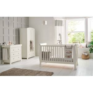 Mamas& Papas Κρεβάτι Mamas & Papas Mia Sleigh Ivory