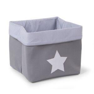 CHILDHOME Κουτί Αποθήκευσης Κανβάς Childhome Grey Stripes