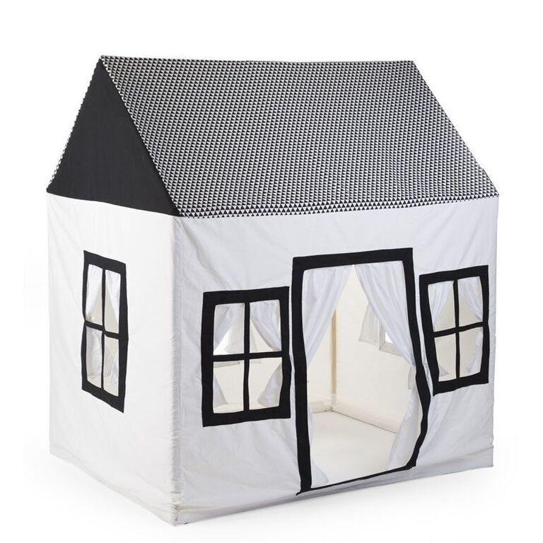 CHILDHOME Βαμβακερό Σπιτάκι Childhome Black & White 125*95*145cm