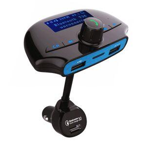 POWERTECH FM Transmitter με LCD οθόνη, QC 3.0, USB, SD, Bluetooth, μαύρο - POWERTECH 23620 POWERTECH