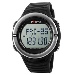 INTIME Ρολόι χειρός Hard-01, Pedometer, Παλμοί καρδιάς, Θερμίδες, ασημί - INTIME 19876 IN TIME