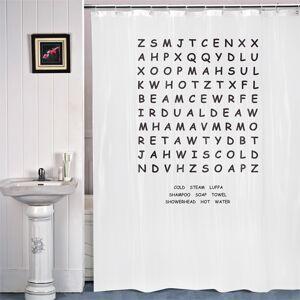 Κουρτίνα Μπάνιου Γράμματα