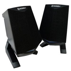 Ηχείο Stereo Multimedia Ezeey Black Samurai A4 με σύνδεση 3.5mm και USB φόρτιση, 3W x 2, Μαύρο OEM