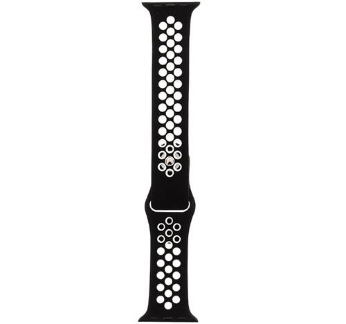 Tactical 164 Double Silicon Apple Watch iWatch 4 44MM Black/White Λουράκι Σιλικόνης Blister