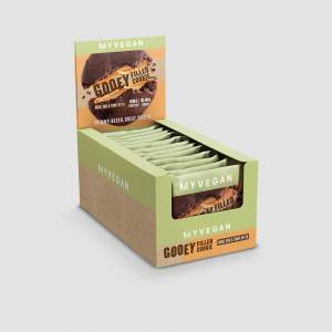 Myvegan Γεμιστό Μπισκότο Πρωτεΐνης Vegan - 12 x 75g - Double Chocolate & Peanut Butter