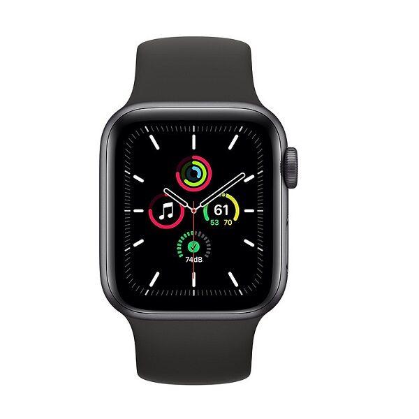 Apple Watch SE 44mm Space Gray με Black Sport Band MYDT2 - Πληρωμή και σε εως 12 δόσεις