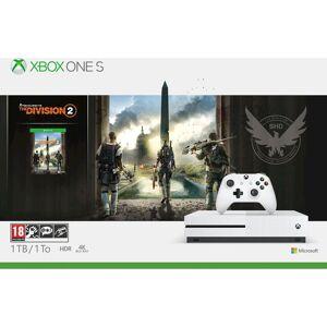 Microsoft Xbox One S White - 1TB & The Division 2