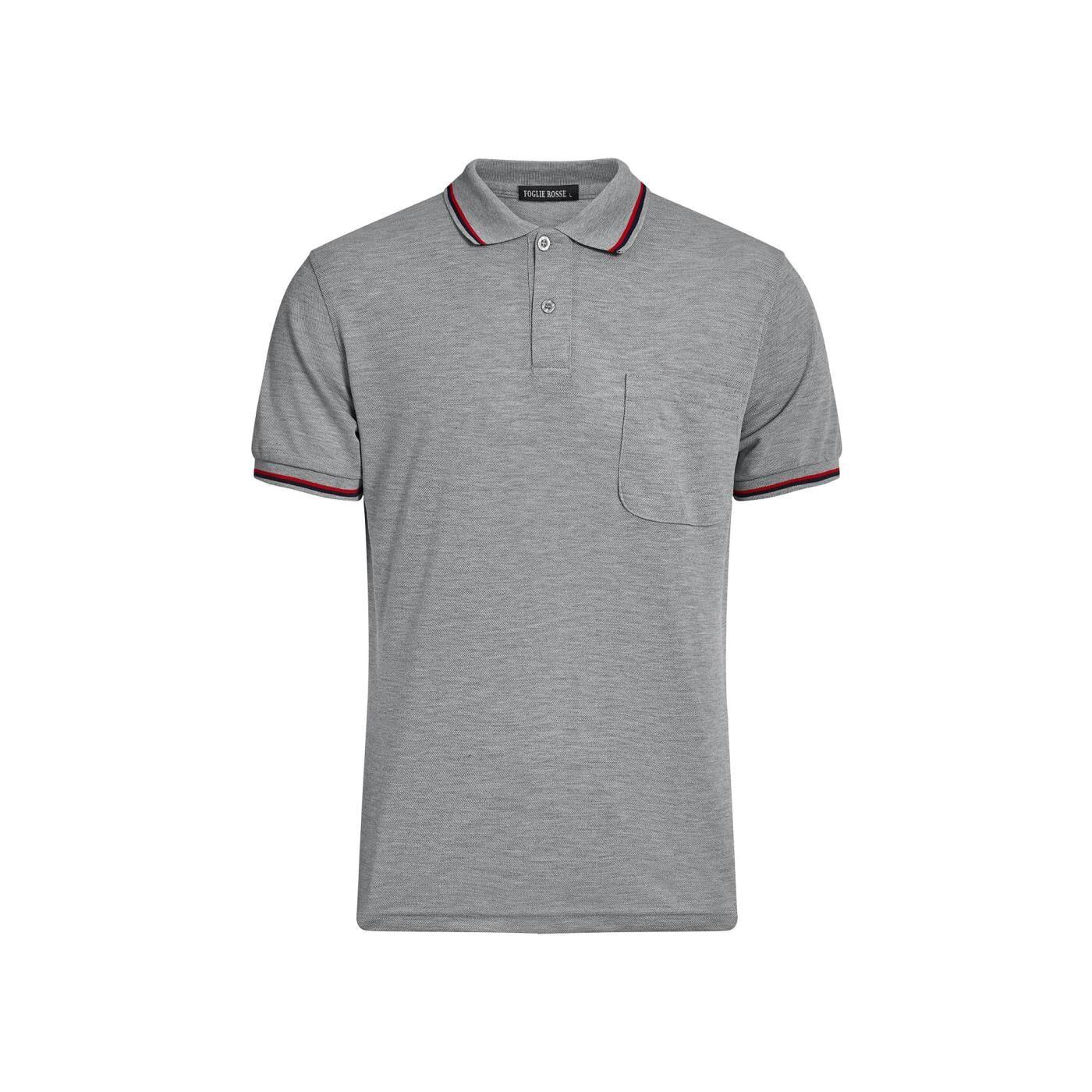 Celestino Ανδρική μπλούζα με γιακά  - Γκρι - Grootte: Medium