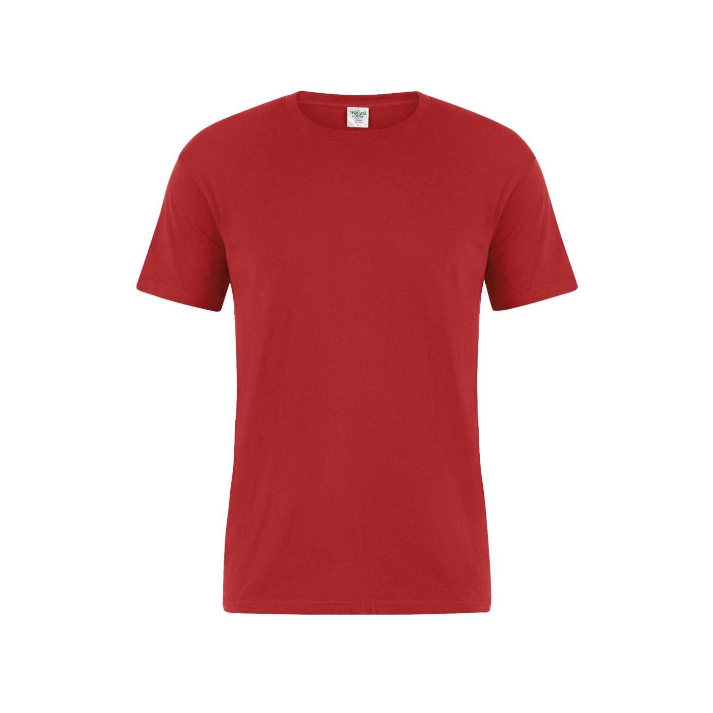 Celestino Βαμβακερό ανδρικό T-shirt  - Κοκκινο - Grootte: Medium