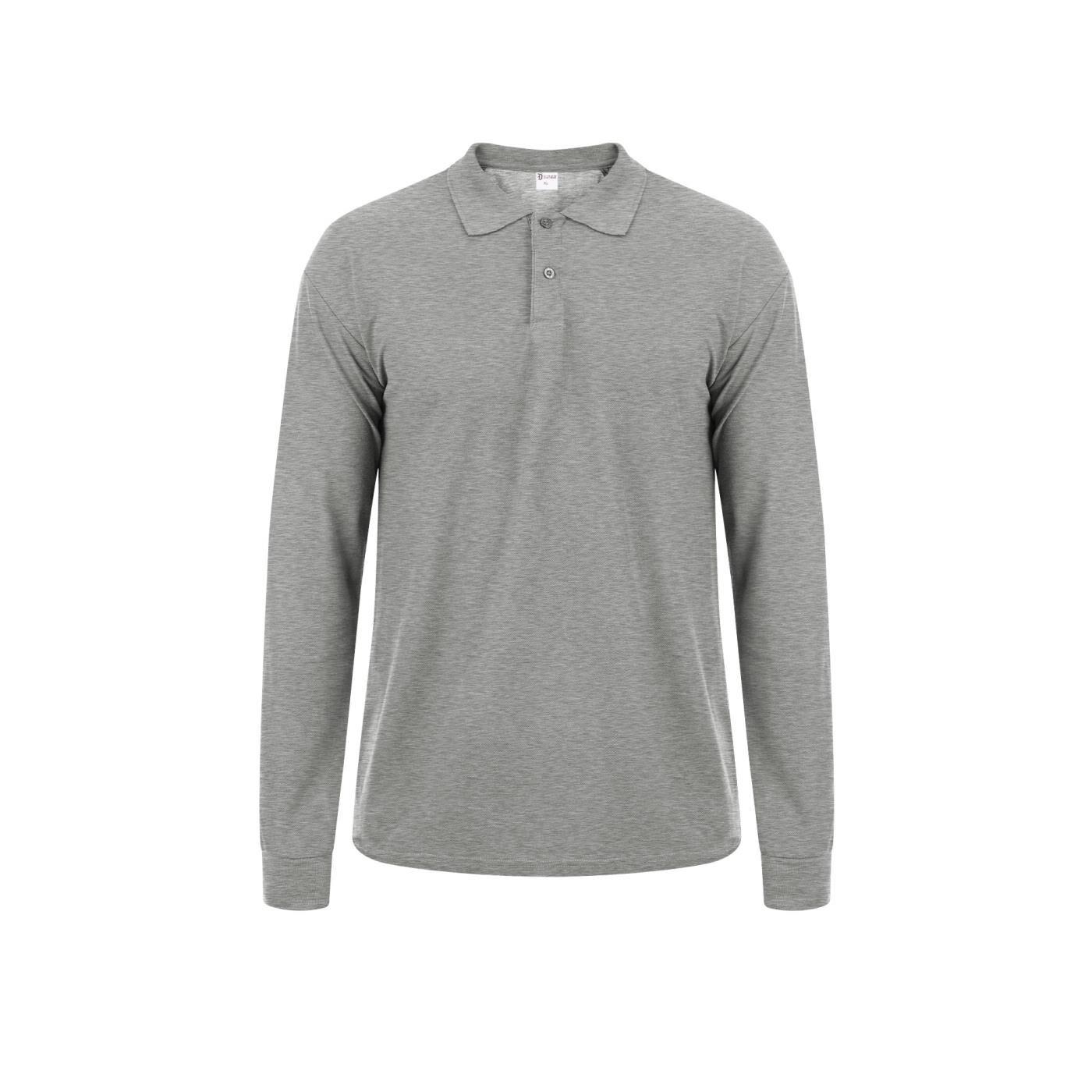 Celestino Ανδρική μπλούζα με γιακά  - Γκρι - Grootte: Small