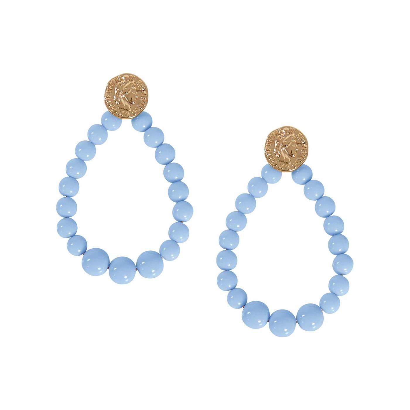 Celestino Κρεμαστά σκουλαρίκια με χάντρες  - Γαλαζιο - Grootte: One Size