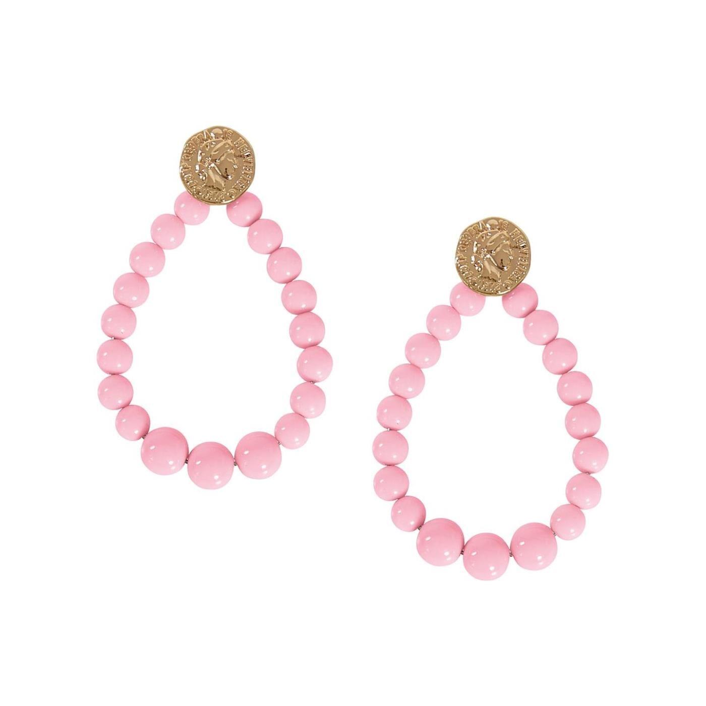 Celestino Κρεμαστά σκουλαρίκια με χάντρες  - Ροζ - Grootte: One Size
