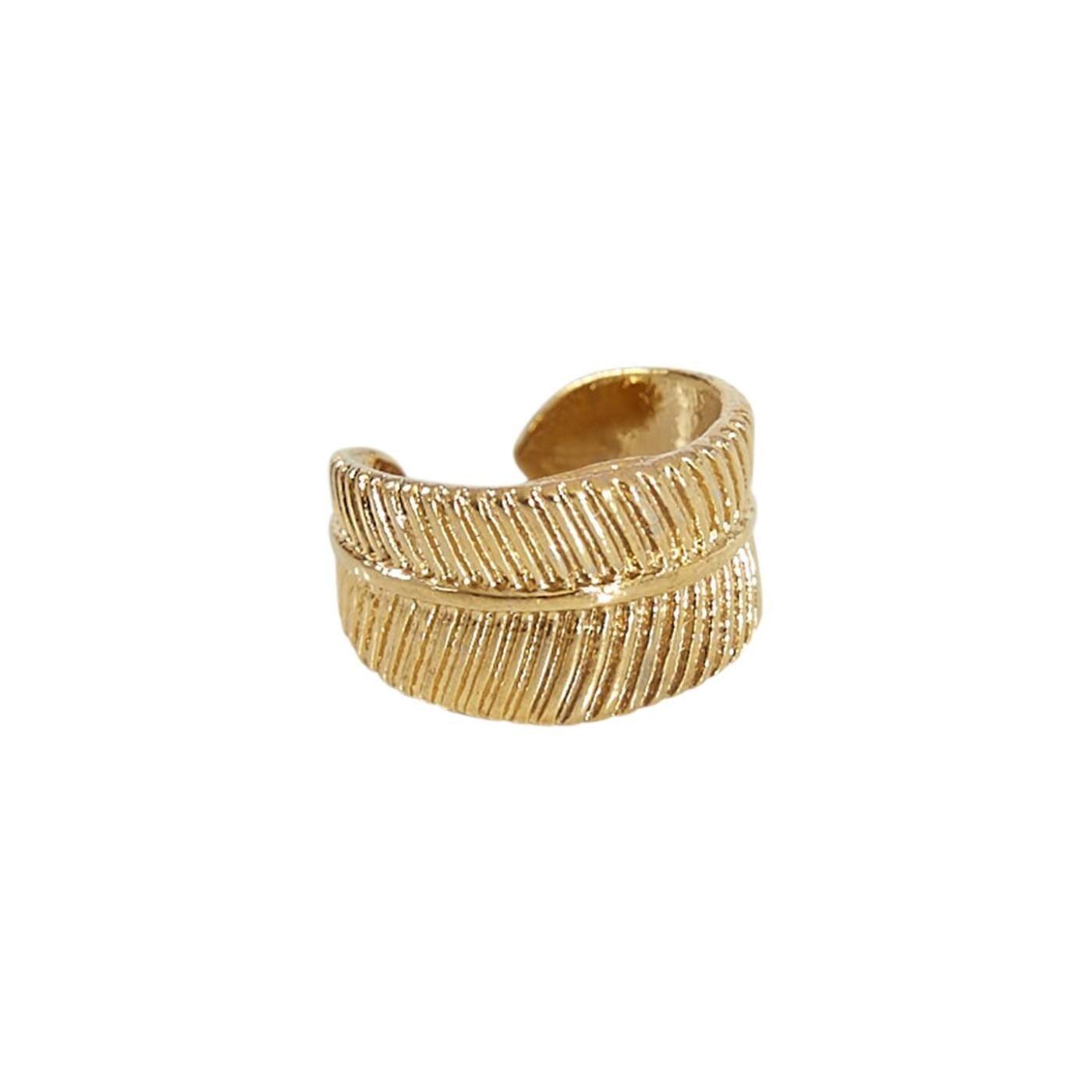 Celestino Ανάγλυφο σκουλαρίκι χωρίς κούμπωμα  - Χρυσαφι - Grootte: One Size
